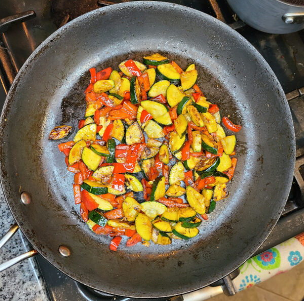 zucchini and red pepper cooked