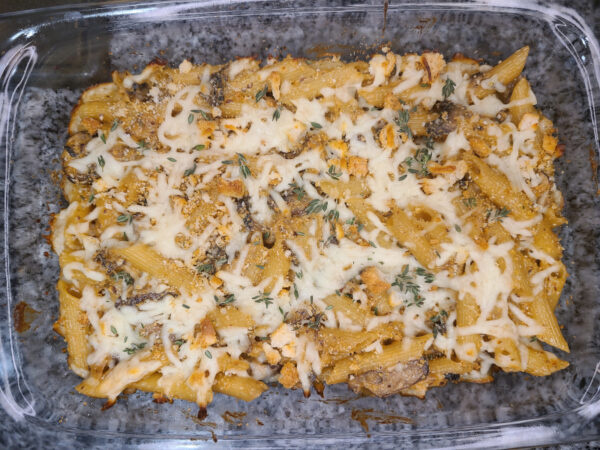 Baked French Onion Penne baked