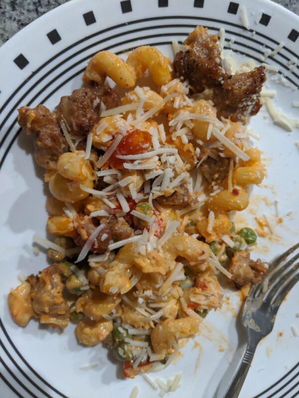 ITALIAN SAUSAGE AND ROASTED TOMATO CREAM CAVATAPPI from Home Chef