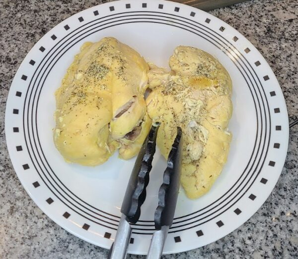 Chicken breasts, boiled