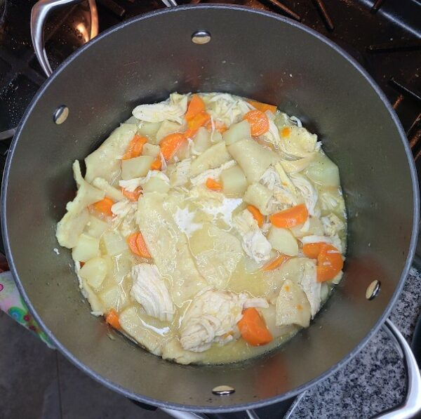 Chicken Pot Pie in pot