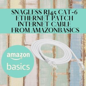 Snagless RJ45 Cat-6 Ethernet Patch Internet Cable from AmazonBasics
