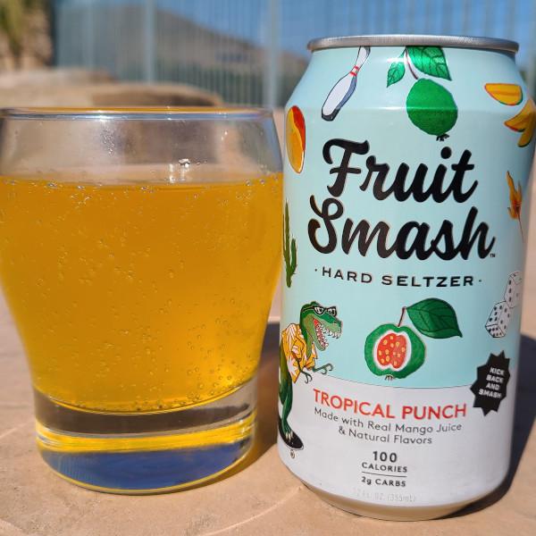 Fruit Smash Hard Seltzer Tropical Punch Flavor