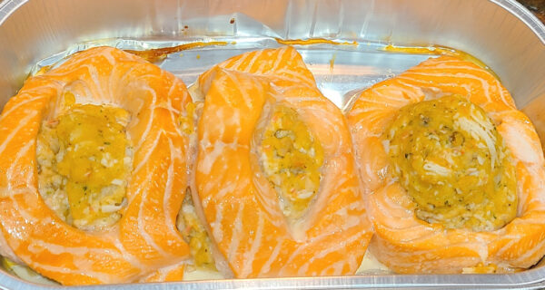 Costco Stuffed Salmon After Cooking